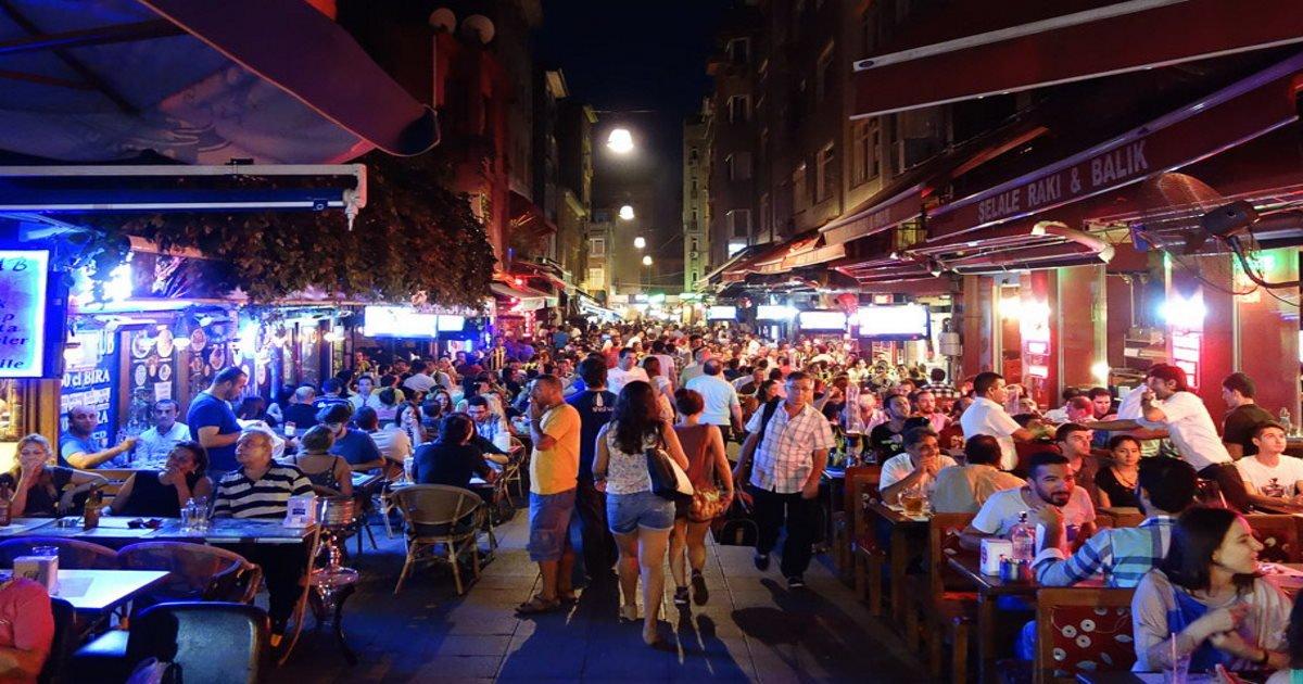 Istanbul Kadikoy at Night