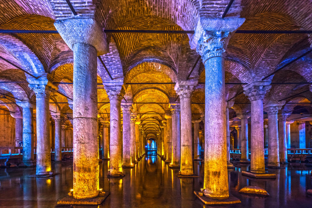 Cocktails in the Basilica Cistern in Istanbul