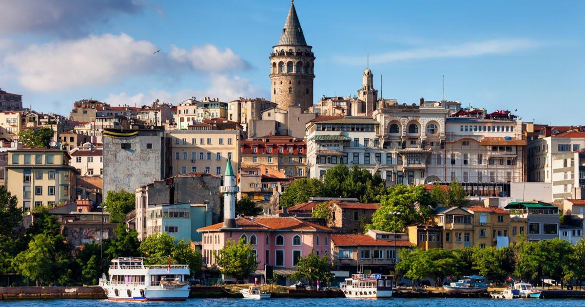 Galata Tower in Istanbul in Turkey