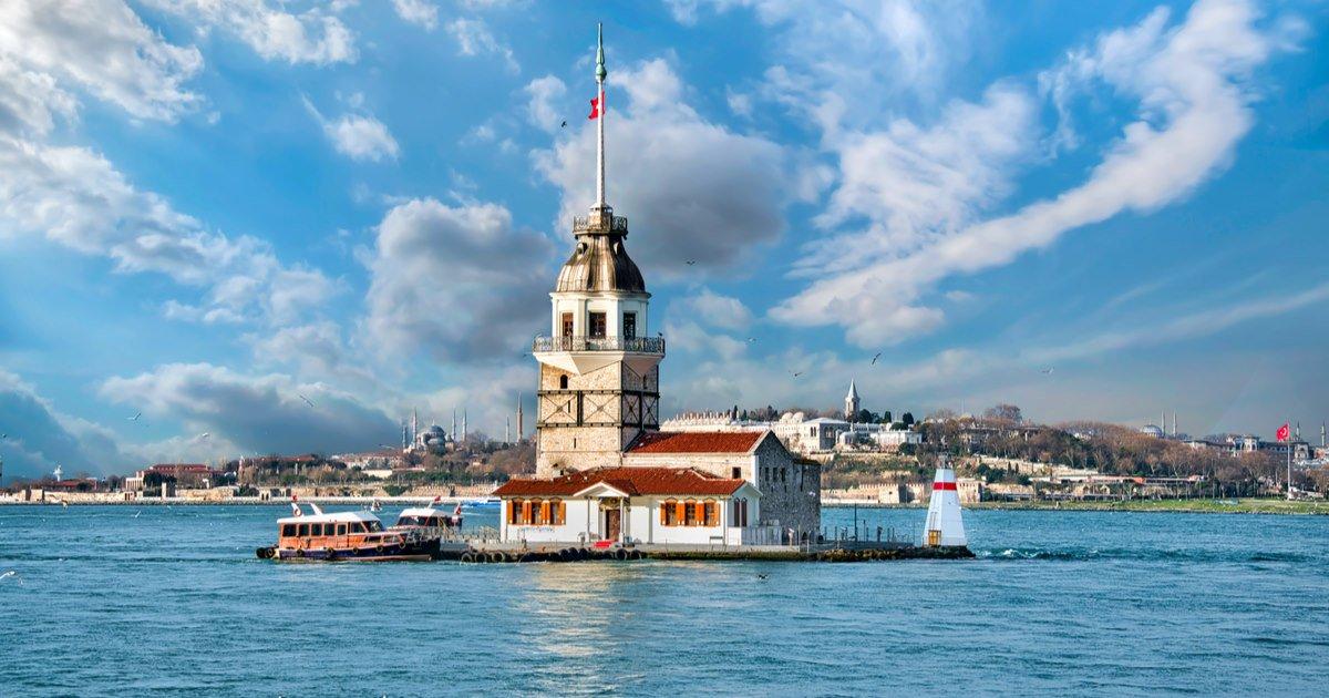 Maiden's Tower (Kız Kulesi) in Istanbul in Turkey