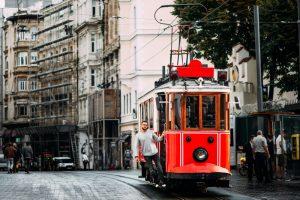 Taksim Istiklal Street in Istanbul Turkey
