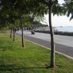 Romantische Strandpromenade