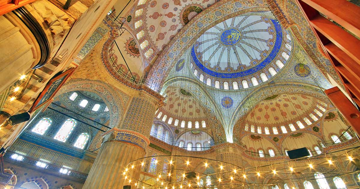 Blue Mosque in Istanbul in Turkey