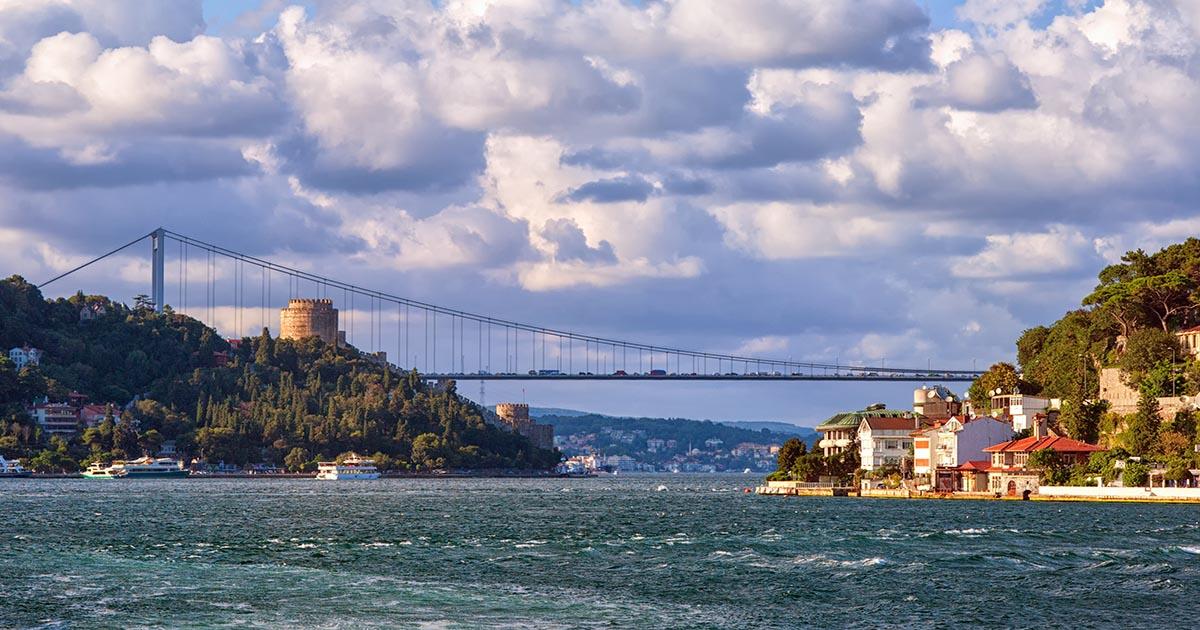 Rumeli Bridge on Bosphorus in Istanbul in Turkey