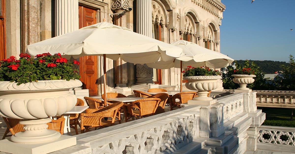 Cıragan Hotel Balcony Bosphorus in Istanbul