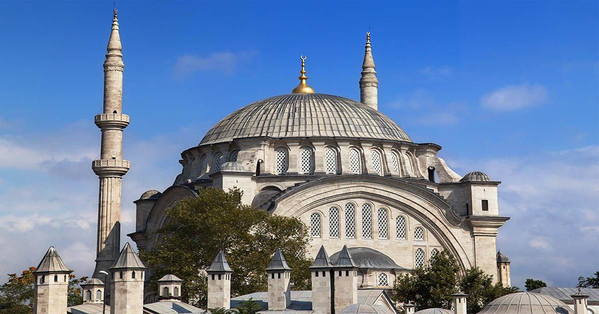 Nuruosmaniye Mosque near Grand Bazaar in Istanbul