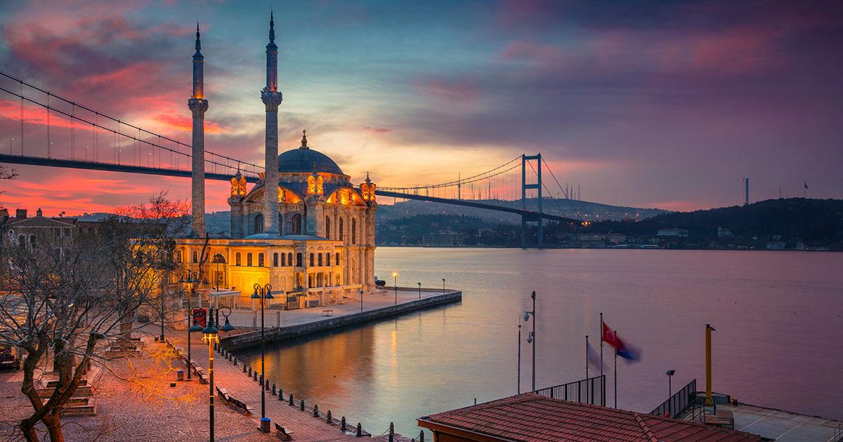 Ortakooy Grand Mecidiye Mosque in Istanbul