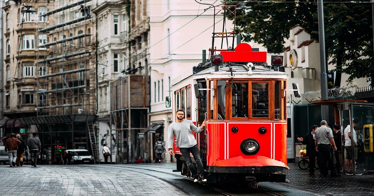 Tramvay Istiklal Taksim Istanbul