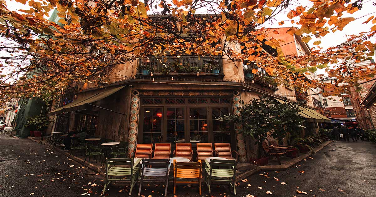 Cafes in Istanbul in Turkey