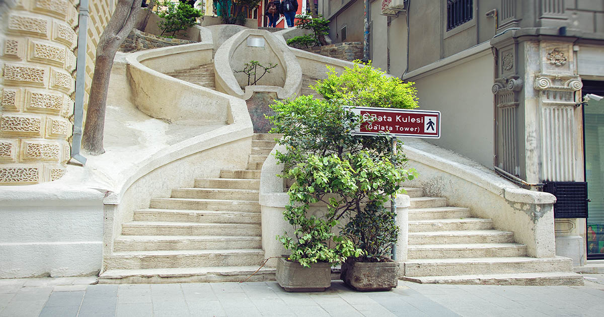 Camondo Stairs near Galata in Istanbul