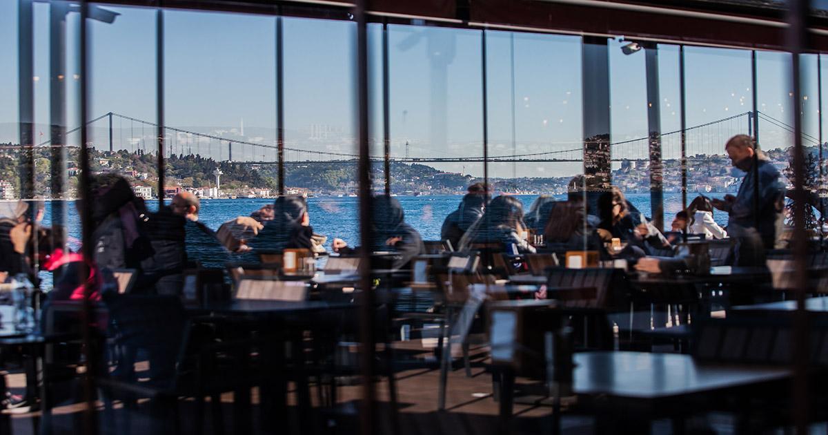 Restaurant on Bosphorus in Istanbul