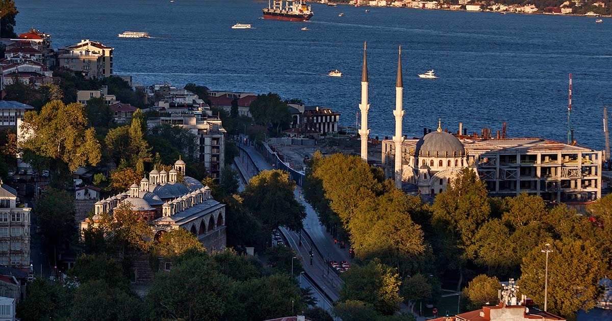 Tophane in Istanbul in Turkey