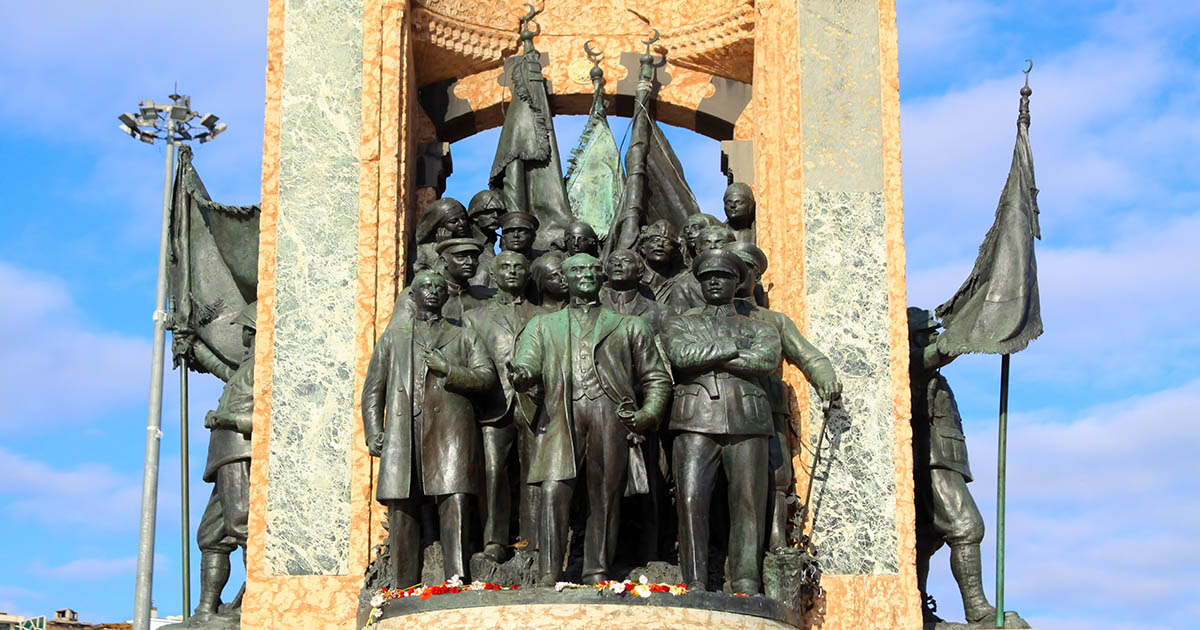Republican Monument at Taksim Square in Istanbul