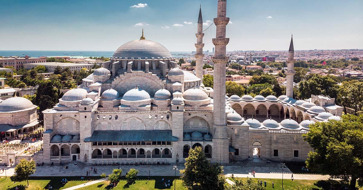 Suleymaniye Mosque in Istanbul in Turkey