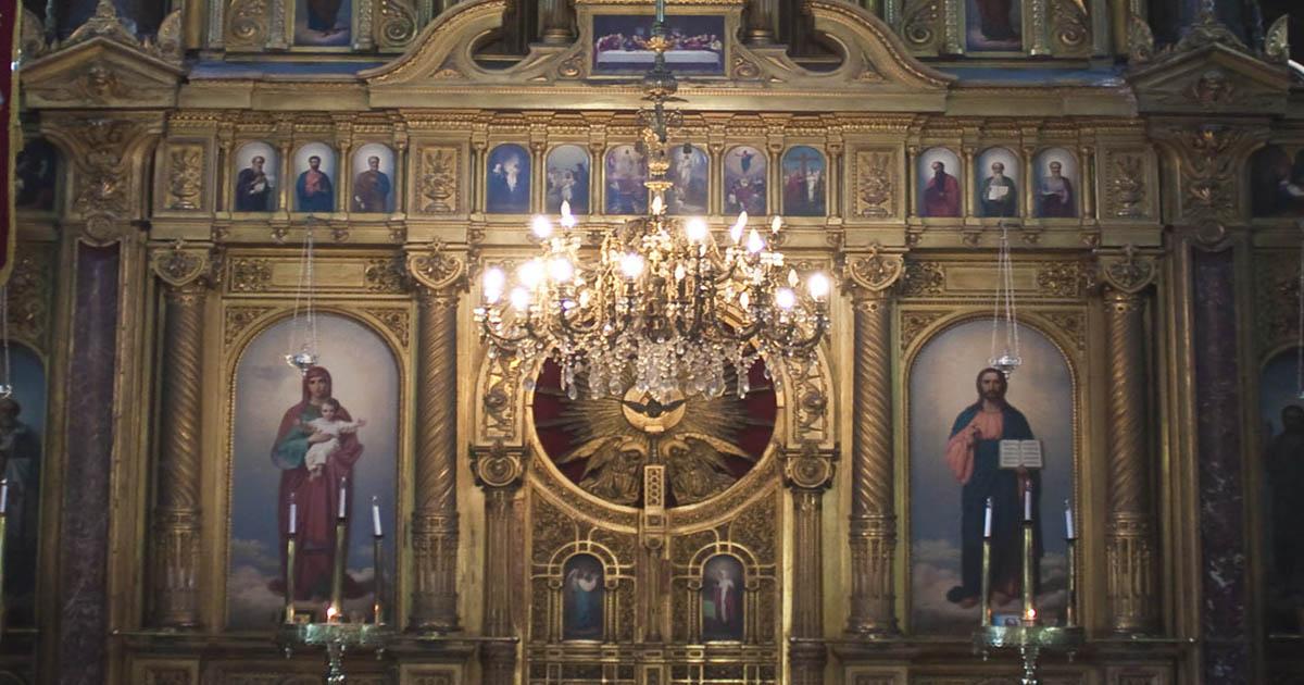 greek orthodox church ikonastasis in istanbul