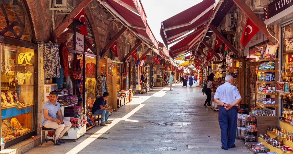 Arasta Bazaar in Istanbul in Turkey