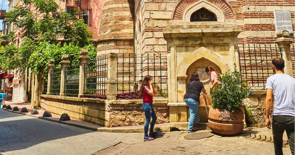 Bereketzade fountain in istanbul