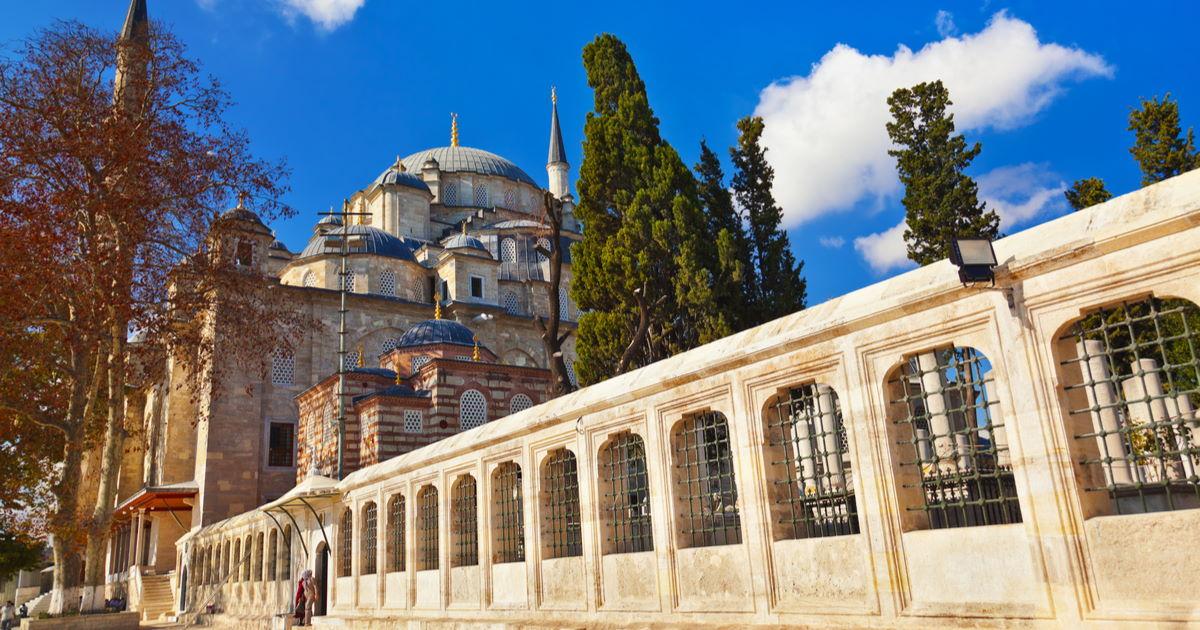 Fatih Moschee in Istanbul in Turkey
