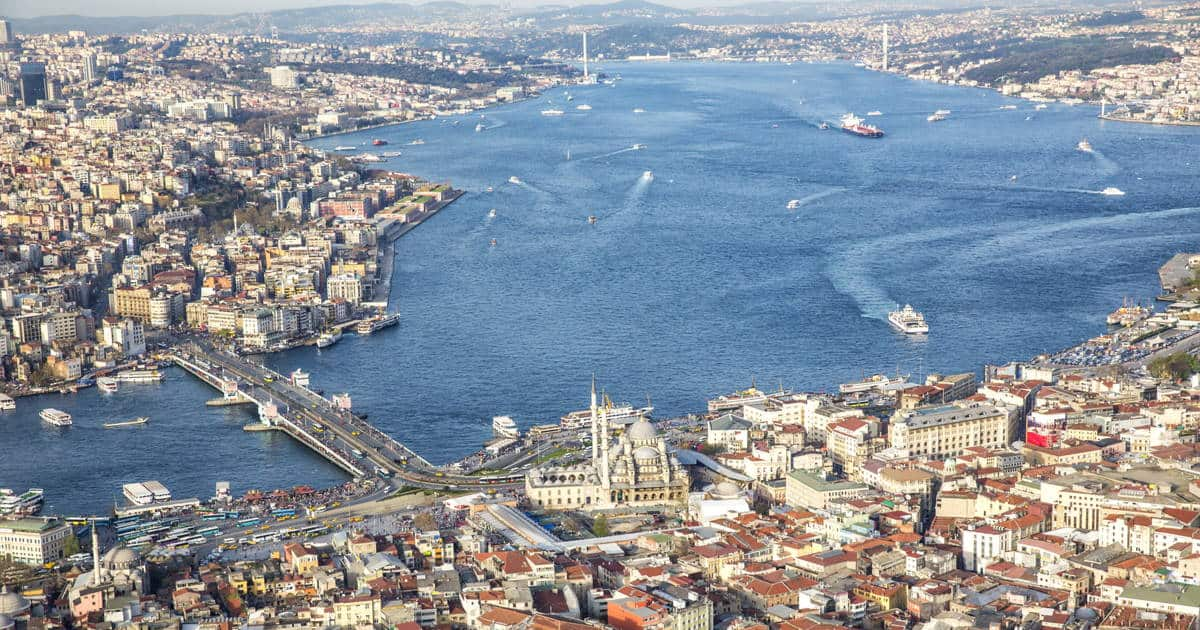 Galata Bridge in Istanbul in Turkey