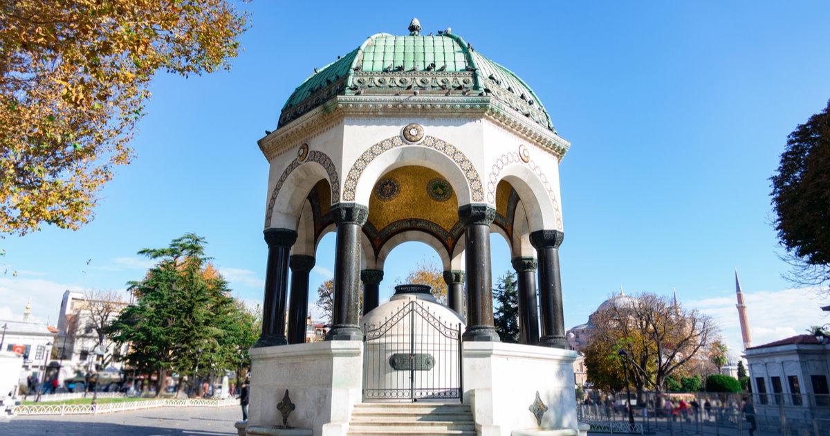 German Fountain in Istanbul in Turkey