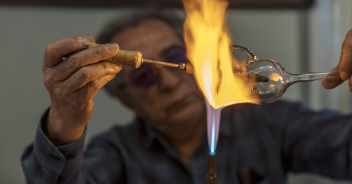 Glass blowing workshop in Istanbul