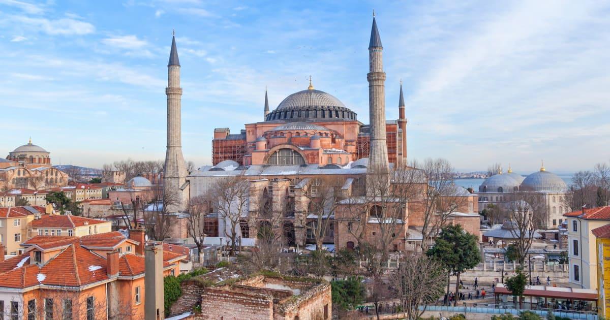 Hagia Sophia in Istanbul in Turkey