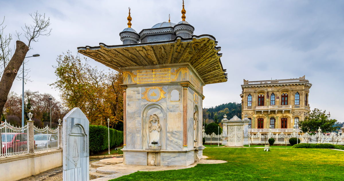 Mihrisah Valide Sultan Fountain in Istanbul