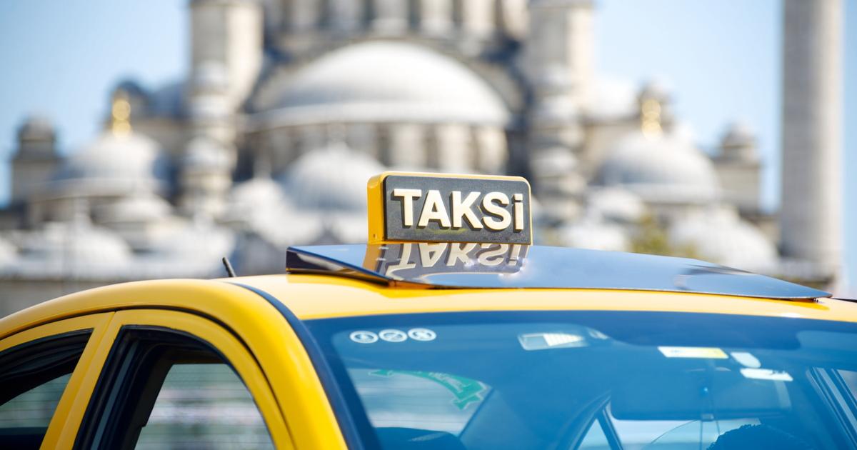 Taxi in Istanbul in Turkey