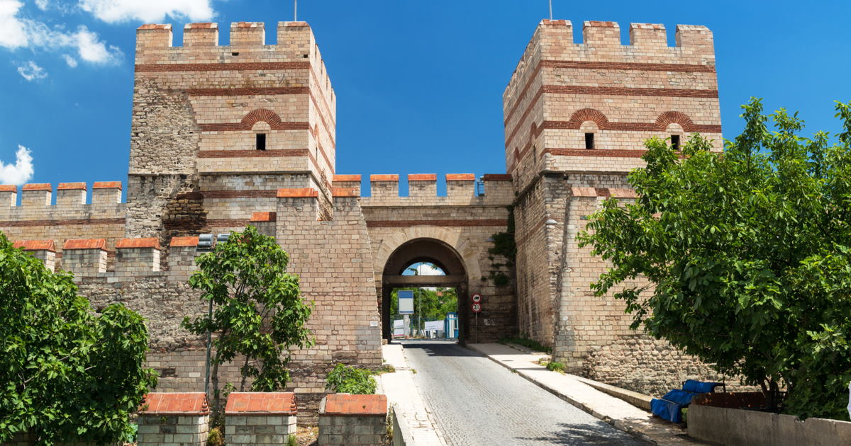 Walls of Constantinople in Istanbul