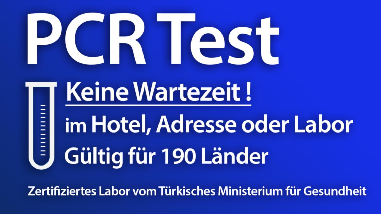 PCR Test in Istanbul, im Labor, Hotel oder Adresse
