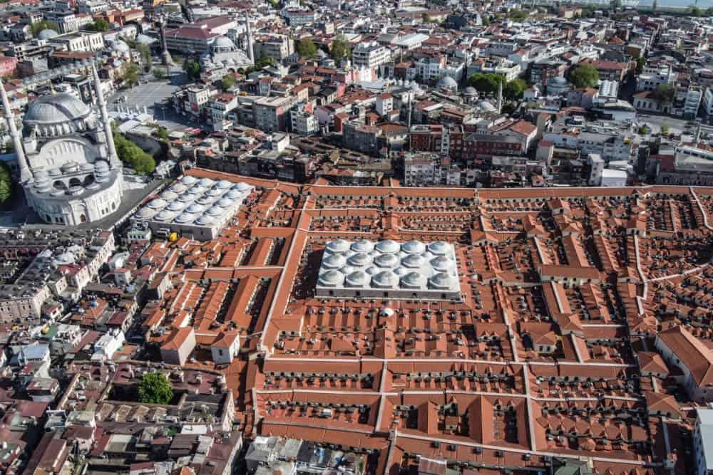 Großer Basar in Istanbul in der Türkei