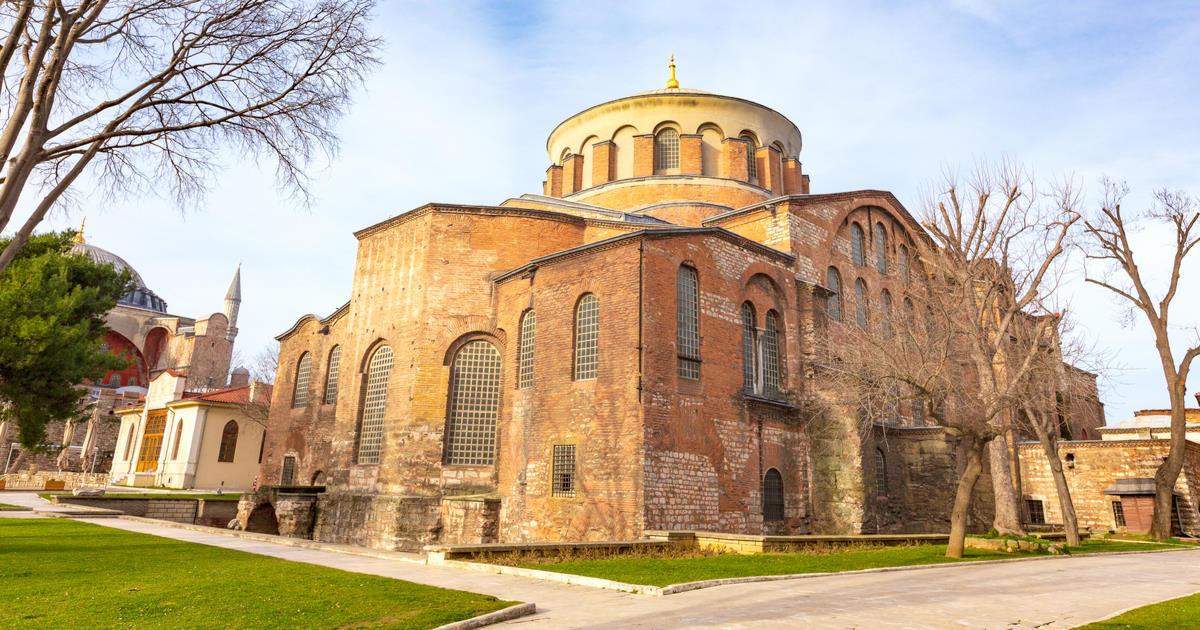Hagia Irene Museum in Istanbul in Turkey